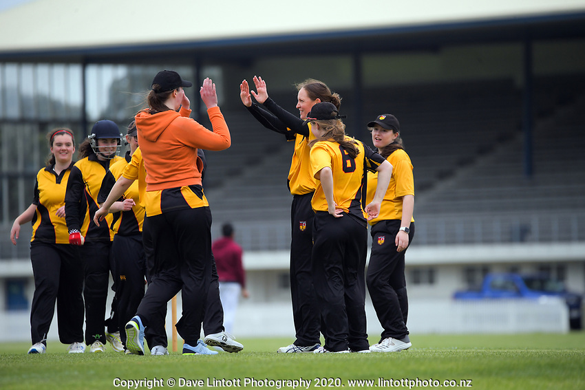 Action from the Joy Lamason One Day Wellington premier women's division one cricket match between Petone Riverside and Wellington Collegians at Petone Rec in Petone, New Zealand on Saturday, 21 November 2020. Photo: Dave Lintott / lintottphoto.co.nz