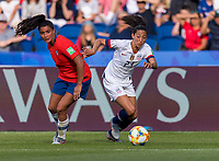 PARIS,  - JUNE 16: Christen Press #23 sprints forward during a game between Chile and USWNT at Parc des Princes on June 16, 2019 in Paris, France.