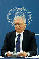 The minister of economy Daniele Franco attends a press conference after the minister's cabinet.<br /> Rome (Italy), October 5th 2021<br /> Photo Samantha Zucchi Insidefoto