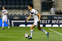 Chester, PA - Friday December 08, 2017: Joao Moutinho The Stanford Cardinal defeated the Akron Zips 2-0 during an NCAA Men's College Cup semifinal match at Talen Energy Stadium.