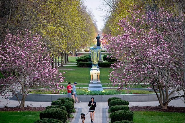 April 30, 2018; Main Quad in Spring (Photo by Matt Cashore/University of Notre Dame)