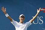 Nishikori beats Djokovic during US Open 2014 tennis semifinal