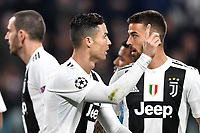 Cristiano Ronaldo of Juventus protests during the Uefa Champions League 2018/2019 round of 16 second leg football match between Juventus and Atletico Madrid at Juventus stadium, Turin, March, 12, 2019 <br />  Foto Andrea Staccioli / Insidefoto