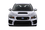 Car photography straight front view of a 2021 Subaru WRX-STI - 4 Door Sedan Front View