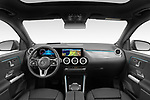 Stock photo of straight dashboard view of 2021 Mercedes Benz EQA 250-Business 5 Door SUV Dashboard