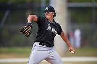 Miami Marlins pitcher Justin Jacome (84) delivers a pitch during a minor league Spring Training game against the New York Mets on March 26, 2017 at the Roger Dean Stadium Complex in Jupiter, Florida.  (Mike Janes/Four Seam Images)