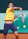 Brazil's Gabriel Bugiga during Junior Davis Cup 2015 match. September  30, 2015.(ALTERPHOTOS/Acero)