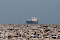 - oil tanker in navigation in the Southern Mediterranean sea ....- petroliera in navigazione nel mare Mediterraneo Meridionale