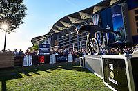 Danny MacAskill. Drop and Roll tour. Red Bull Air Race . Ascot Racecourse. Ascot, Berks. August 2016.