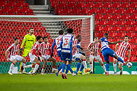 6th February 2021; Bet365 Stadium, Stoke, Staffordshire, England; English Football League Championship Football, Stoke City versus Reading; A last minute shot on goal by Yakou Meite of Reading but was saved
