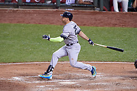 New York Yankees Mark Teixeira bats during the MLB All-Star Game on July 14, 2015 at Great American Ball Park in Cincinnati, Ohio.  (Mike Janes/Four Seam Images)