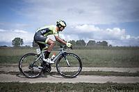 Aksel Nommela (EST/Wallonie Bruxelles) riding a off-road sector<br /> <br /> <br /> Antwerp Port Epic 2019 <br /> One Day Race: Antwerp > Antwerp 187km<br /> <br /> ©kramon