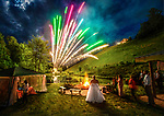 The wedding of Rachel Yeager and Will Lynch at A Point of View farm in Grassy Creek, North Carolina.