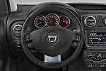 Car pictures of steering wheel view of a 2015 Dacia Dokker Stepway 5 Door Minimpv Steering Wheel