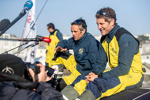 Charles Caudrelier (right) - Skipper of Maxi Edmond de Rothschild will be sharing the helm with Franck Cammas (left)