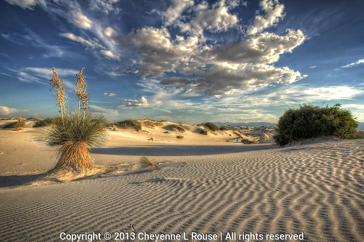 White Sands & Clouds - New Mexico