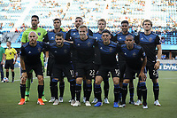 SAN JOSE, CA - JUNE 26: San Jose Earthquakes Starting Eleven during a Major League Soccer (MLS) match between the San Jose Earthquakes and the Houston Dynamo on June 26, 2019 at Avaya Stadium in San Jose, California.
