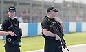 27/05/17<br /> <br /> Armed police patrol Donington Park circuit ahead of this afternoon's World Superbike race.<br /> <br /> All Rights Reserved F Stop Press Ltd. (0)1773 550665 www.fstoppress.com