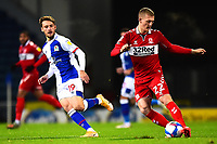 Middlesbrough's George Saville competes with Blackburn Rovers' Tom Trybull<br /> <br /> Photographer Richard Martin-Roberts/CameraSport<br /> <br /> The EFL Sky Bet Championship - Blackburn Rovers v Middlesbrough - Tuesday 3rd November 2020 - Ewood Park - Blackburn<br /> <br /> World Copyright © 2020 CameraSport. All rights reserved. 43 Linden Ave. Countesthorpe. Leicester. England. LE8 5PG - Tel: +44 (0) 116 277 4147 - admin@camerasport.com - www.camerasport.com