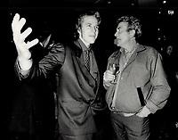 1987 FILE PHOTO - ARCHIVES -<br /> <br /> Left actors Matthew Modine, right Albert Finney<br /> <br /> 1987<br /> <br /> PHOTO :  Erin Comb - Toronto Star Archives - AQP