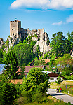 Deutschland, Bayern, Niederbayern, Naturpark Bayerischer Wald, Regen-Weissenstein: Burgruine Weissenstein | Germany, Bavaria, Lower-Bavaria, Nature Park Bavarian Forest, Regen-Weissenstein: castle ruin Weissenstein
