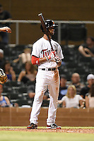 Salt River Rafters outfielder Byron Buxton (2) during an Arizona Fall League game against the Scottsdale Scorpions on October 7, 2014 at Salt River Fields at Talking Stick in Scottsdale, Arizona.  Scottsdale defeated Salt River 7-4.  (Mike Janes/Four Seam Images)
