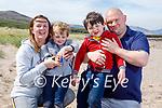 Enjoying a stroll in Derrymore beach on Saturday, l to r: Aidan, Eileen, Brian and Aidan Culinane