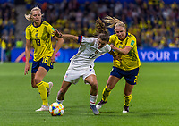 LE HAVRE,  - JUNE 20: Fans cheer during a game between Sweden and USWNT at Stade Oceane on June 20, 2019 in Le Havre, France.