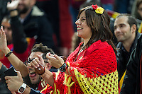 Spain's supporters during the match of European qualifying round between Spain and Macedonia at Nuevo Los Carmenes Stadium in Granada, Spain. November 12, 2016. (ALTERPHOTOS/Rodrigo Jimenez)