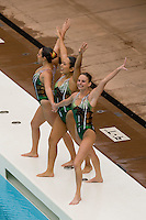 2 February 2008: Taylor Durand, Debbie Chen, and Poppy Carlig during Stanford's 90-69 win over Alabama-Birmingham at the Avery Aquatic Center in Stanford, CA.