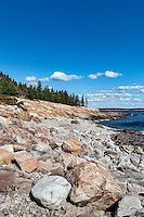 Rocky beach, Winter Harbor, Maine, USA