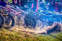 They\re off - the NGR Championship round gets underway during the Richard Fitch Memorial Trophy Motocross at Wakes Colne MX Circuit on 18th July 2021