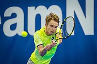 Amstelveen, Netherlands, 17  December, 2020, National Tennis Center, NTC, NK Indoor, National  Indoor Tennis Championships,   :  Jesper de Jong (NED) <br /> Photo: Henk Koster/tennisimages.com