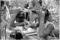 PAIGC School for adults in the liberated area of Guinea- Bissau, not a nursing school,1974