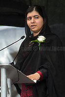 Malala Yousafzai (Pakistani activist for female education and the youngest-ever Nobel Prize laureate; she is known mainly for human rights advocacy for education and for women in her native Swat Valley in the Khyber Pakhtunkhwa province of northwest Pakistan, where the local Taliban had at times banned girls from attending school). <br /> <br /> London, 22/06/2016. Today, thousands of people gathered in Trafalgar Square to celebrate the life Jo Cox, the Labour Member of Parliament who was brutally killed by the far-right extremist Thomas Mair on the 16th of June 2016. From the organisers Facebook page: <<[…] We will gather together in Trafalgar Square to celebrate Jo's warmth, love, energy, passion, flair, Yorkshire heritage, and belief in the humanity of every person in every place, from Batley and Spen to Aleppo and Darayya. Jo believed that there is more that unites us than divides us, and she was killed for those beliefs. She believed in a love that is fierce, brave and humble. Her death has devastated a family, and attacked the ideals that we as a nation most cherish. But we will not be divided. We will rise up together to carry Jo's message forward. We will meet hate with love. On the day Jo would have been 42, we are asking everyone, everywhere to love like Jo loved. Jo's legacy is a direct challenge to everyone here, to take part, speak up and be a voice for the voiceless, to treat even those we disagree with with tolerance and genuine respect. Let's honour Jo on Wednesday by carrying forward the message that she now symbolises around the world - that we have #moreincommon than that which divides us.>>.<br /> <br /> For more information about the event please click here: https://www.facebook.com/events/1369130213102106/<br /> <br /> For more information about the death of Jo Cox please click here: https://en.wikipedia.org/wiki/Death_of_Jo_Cox & http://www.bbc.co.uk/news/uk-england-36550304