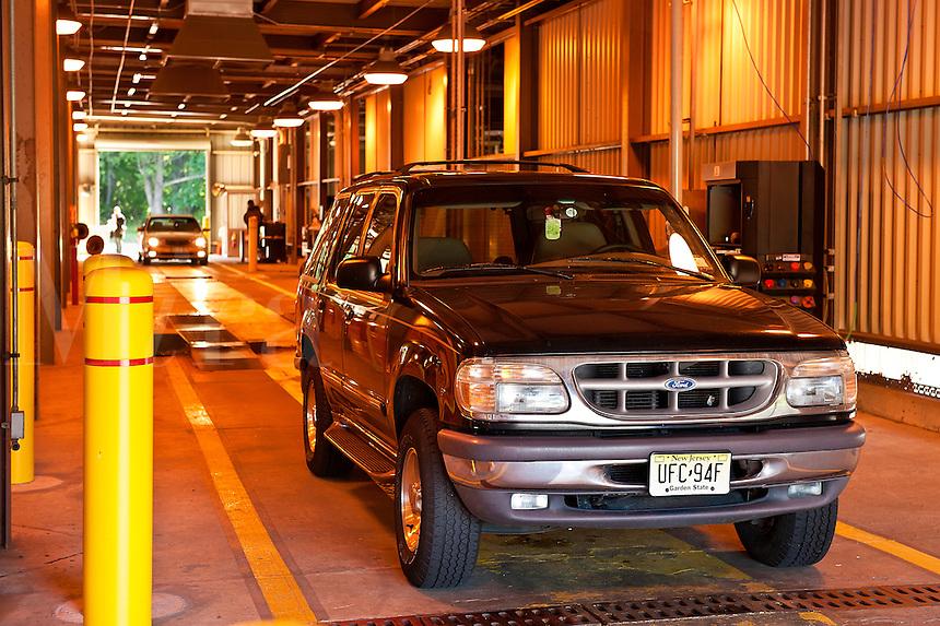 State auto inspection station, New Jersey, USA