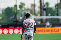 LAKE BUENA VISTA, FL - JULY 13: Richie Laryea #22 of Toronto FC walking away during a game between D.C. United and Toronto FC at Wide World of Sports on July 13, 2020 in Lake Buena Vista, Florida.