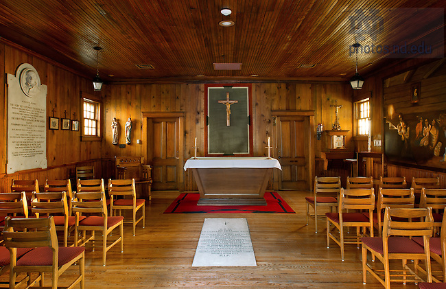 May 17, 2012; Log Chapel interior..Photo by Matt Cashore/University of Notre Dame