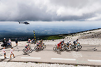 early breakaway group  with among others World Champion Julian Alaphilippe (FRA/Deceuninck-Quick Step) and Belgian National Champion Wout van Aert (BEL/Jumbo-Visma) up the famed Mont Ventoux<br /> <br /> Stage 11 from Sorgues to Malaucène (198.9km)<br /> 108th Tour de France 2021 (2.UWT)<br /> <br /> ©kramon