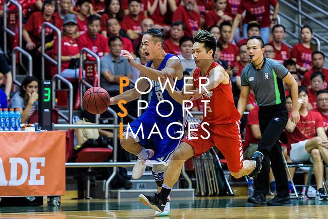 Lo Yi Ting #5 of SCAA Men's Basketball Team (R) during the Final of Hong Kong Basketball League 2018 match between SCAA v Eastern Long Lions on August 10, 2018 in Hong Kong, Hong Kong. Photo by Marcio Rodrigo Machado/Power Sport Images