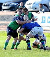 Saturday 10th October 2020 | Ballynahinch vs Queens<br /> <br /> Harry McCormich and Callum Irvine during the Energia Community Series clash between Ballynahinch and Queens at Ballymacarn Park, Ballynahinch, County Down, Northern Ireland. Photo by John Dickson / Dicksondigital