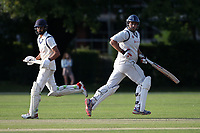 Hassan Chowdhury (R) and Naivedyam Dwivedi add to the Wanstead total during Brentwood CC vs Wanstead and Snaresbrook CC, Essex Cricket League Cricket at The Old County Ground on 12th September 2020