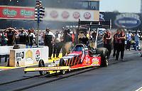 Jul. 31, 2011; Sonoma, CA, USA; NHRA top fuel dragster driver Doug Kalitta during the Fram Autolite Nationals at Infineon Raceway. Mandatory Credit: Mark J. Rebilas-
