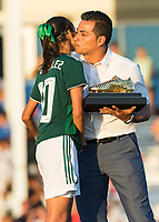 Bradenton, FL - Sunday, June 12, 2018: CONCACAF awards, Alison Gonzalez during a U-17 Women's Championship Finals match between USA and Mexico at IMG Academy.  USA defeated Mexico 3-2 to win the championship.