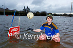 Glenflesk footballer Damian Switzer whose training video on their flooded field has gone viral