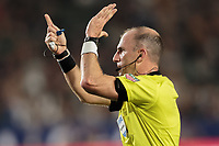 CARSON, CA - SEPTEMBER 15: Ted Unkel points to the PK spot during a game between Sporting Kansas City and Los Angeles Galaxy at Dignity Health Sports Complex on September 15, 2019 in Carson, California.
