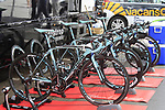 Vacansoleil-DCM Pro Cycling Team Bianchi spare bikes lined up before the Prologue of the 99th edition of the Tour de France 2012, a 6.4km individual time trial starting in Parc d'Avroy, Liege, Belgium. 30th June 2012.<br /> (Photo by Eoin Clarke/NEWSFILE)