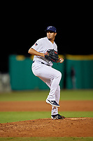 Pensacola Blue Wahoos relief pitcher Jovani Moran (30) during a Southern League game against the Biloxi Shuckers on May 3, 2019 at Admiral Fetterman Field in Pensacola, Florida.  Pensacola defeated Biloxi 10-8.  (Mike Janes/Four Seam Images)