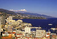 Monte Carlo city and the Condamine. Monaco.