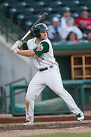 Fort Wayne TinCaps outfielder Michael Gettys (28) at bat against the West Michigan Whitecaps on May 23, 2016 at Parkview Field in Fort Wayne, Indiana. The TinCaps defeated the Whitecaps 3-0. (Andrew Woolley/Four Seam Images)